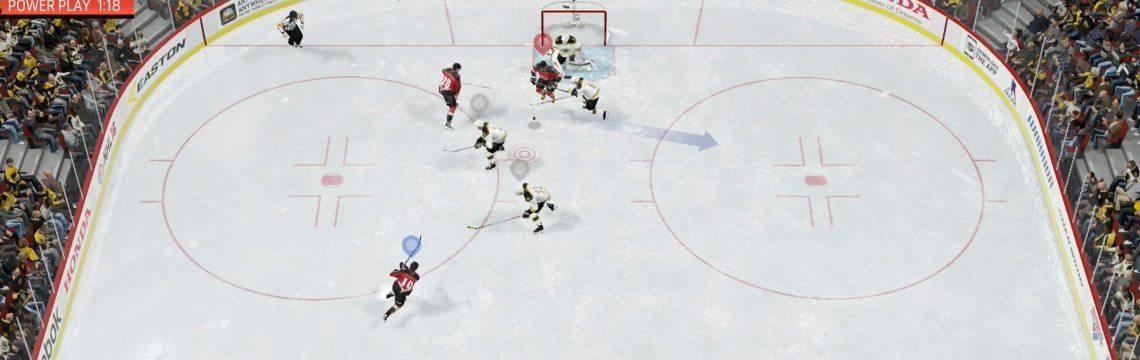 NHL 16 screening the goalie
