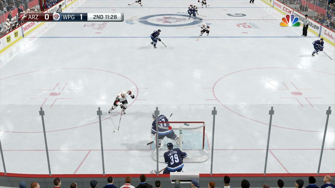 NHL 17 Action camera angle defensive zone