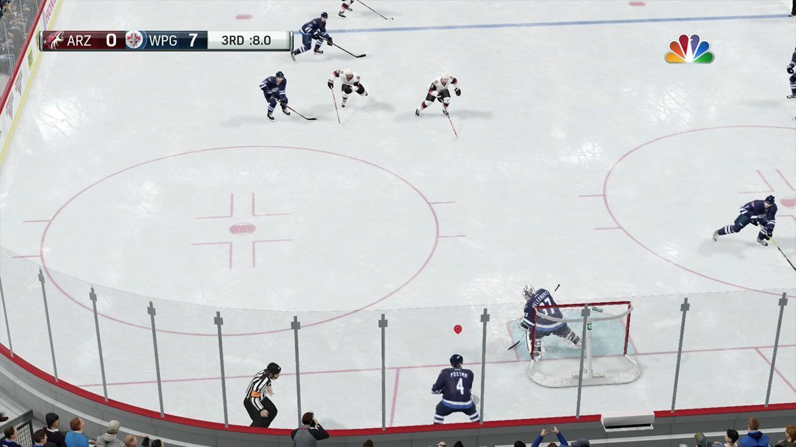 Dynamic low angle example NHL 17 defensive zone