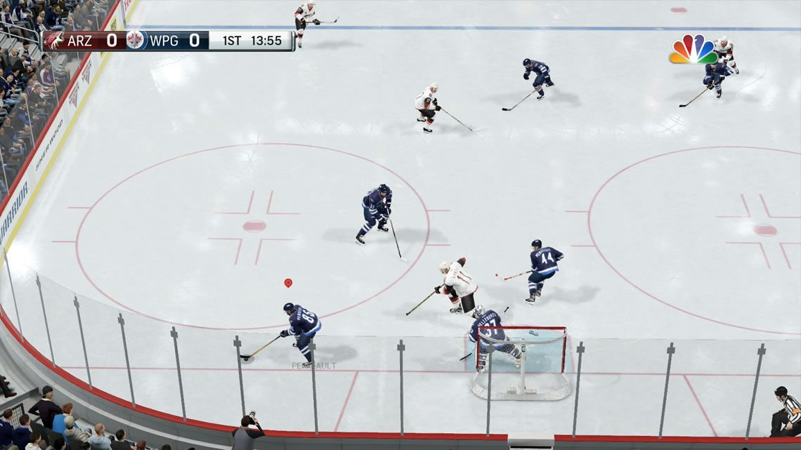 Dynamic View Angle from NHL 17 behind the net