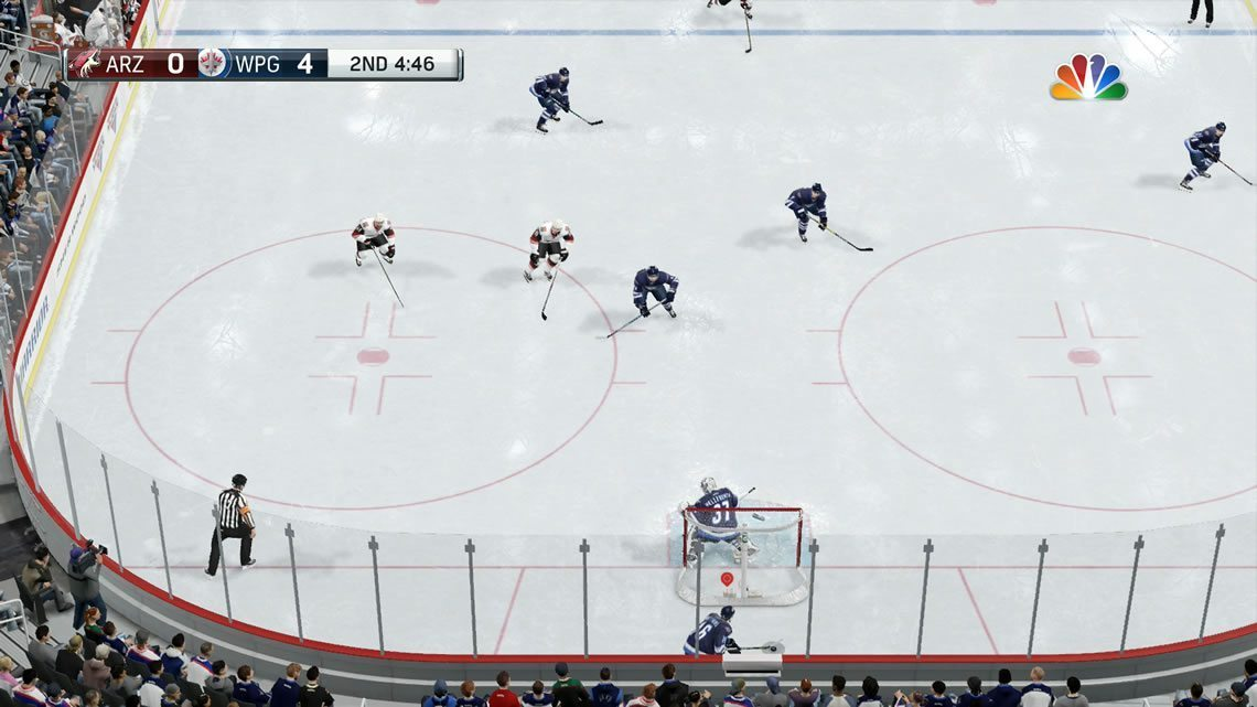 Ice Camera angle in NHL 17 from behind the net