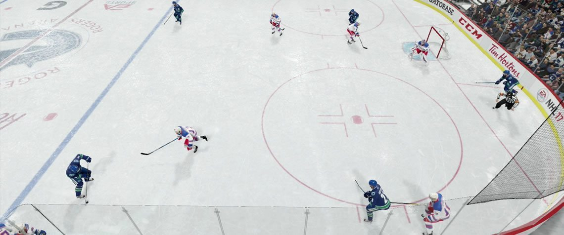Overload one side of the zone to outnumber your opponents. Power Play Strategy.