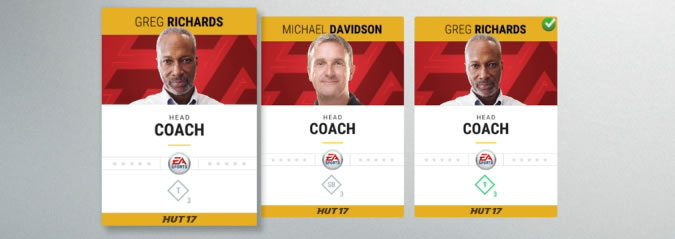 NHL 17 Hockey Ultimate Team Coaches