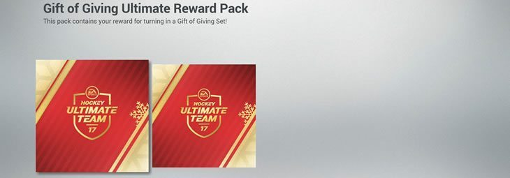 Gift of Giving Reward Packs