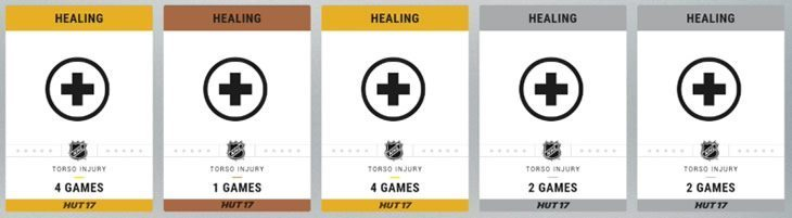 Hockey Ultimate Team Healing Cards