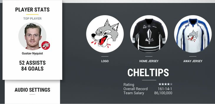 HUT My Team menu