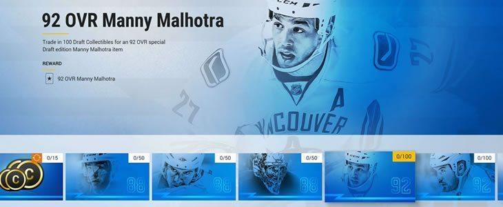 Draft Champions Manny Malhotra set