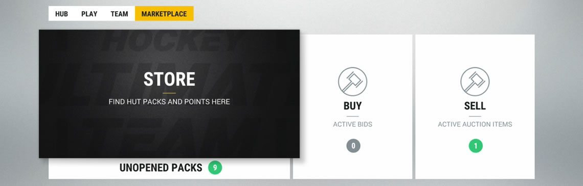 HUT Marketplace Menu