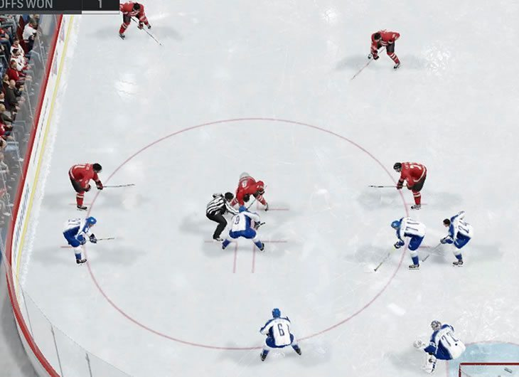 Analyzing opponent's faceoff setup