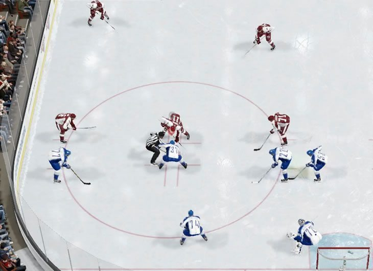 Analysis of opponents NHL 17 faceoff setup