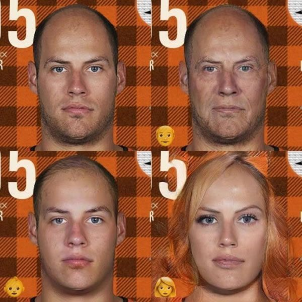 Getzlaf old, young, and as a girl