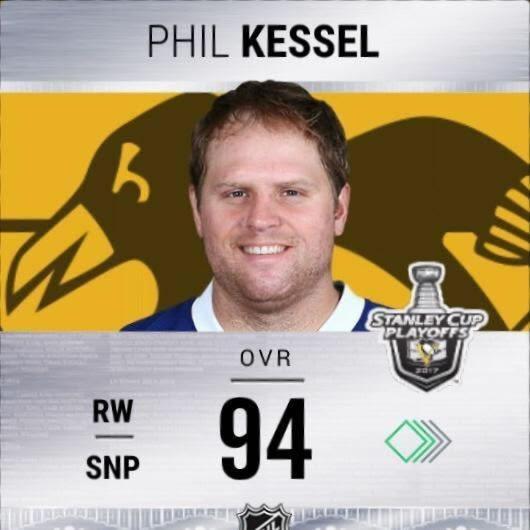 a rare photo of Kessel smiling