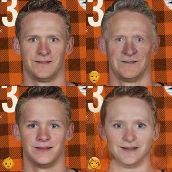 Corey Perry on FaceApp
