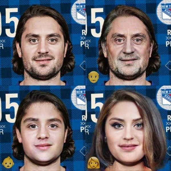 Mats Zuccarelo on FaceApp old, young, woman