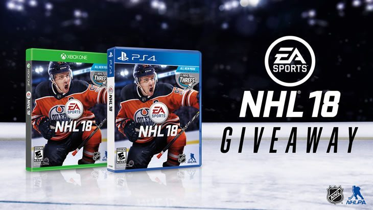 Your chance to win 1 copy of NHL 18 for either Xbox or Playstation