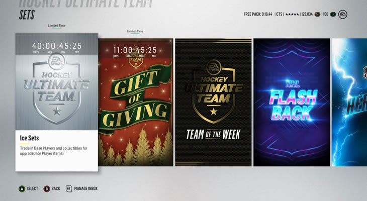 Limited Time HUT sets - current