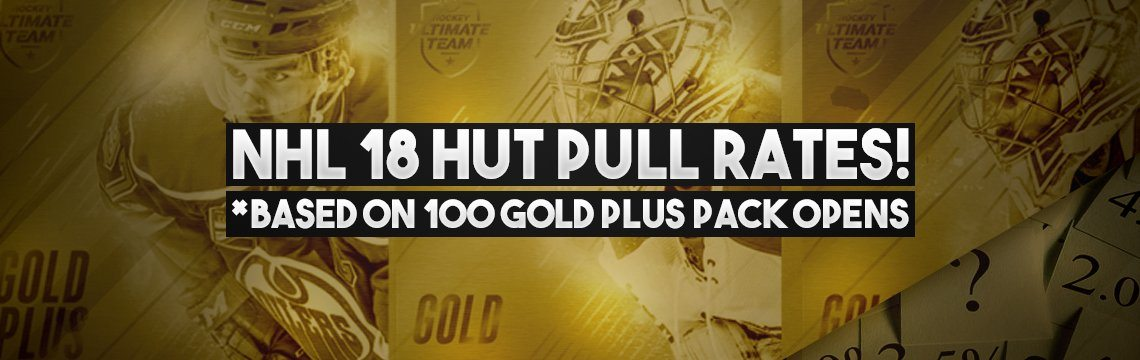 Nhl 18 Hut Player And Collectible Pull Rates 100 Gold Plus Packs