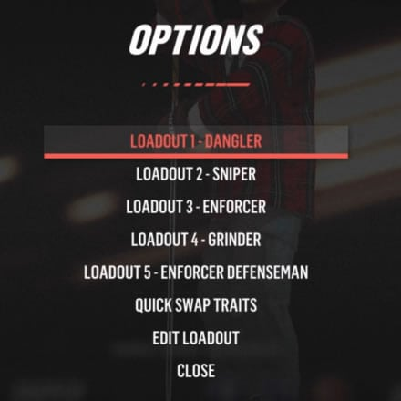List of player edit options in World of Chel including all loadouts