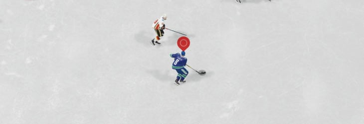 the large player indicator in EA Sports NHL