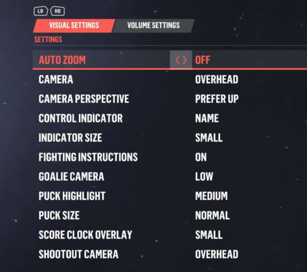 The best NHL 19 visual settings